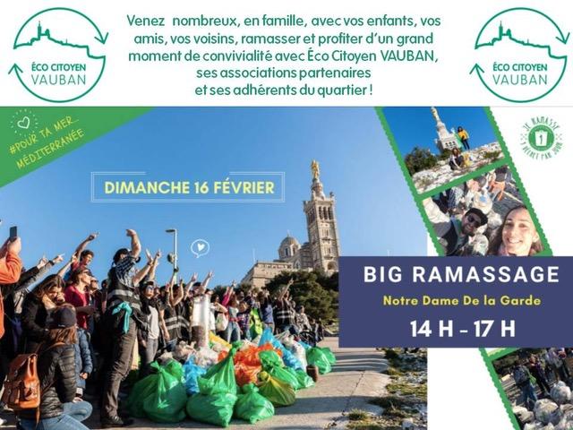 Big ramassage de déchets Vauban - Marseille 13006 - 1 Déchet Par jour
